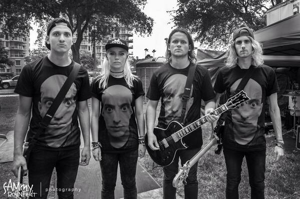 Tonight Alive repping some AE FACE T's, I told the band I would never use their image to sell my shirts, so don't buy it because they are wearing it- but I am stoked they support me