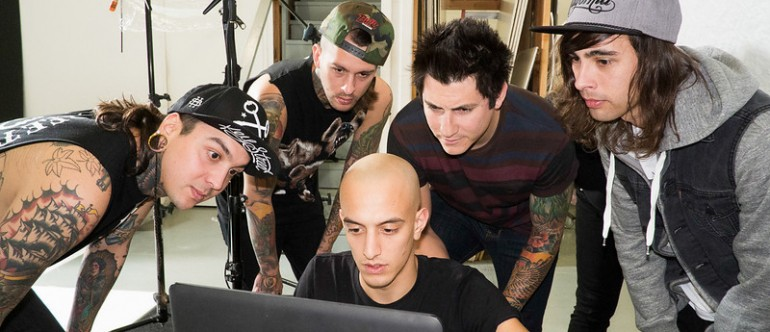 Adam Elmakias with Pierce The Veil