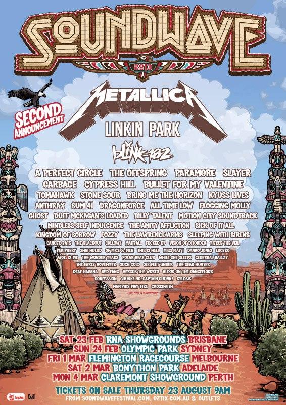 Soundwave Festival 2013 Lineup
