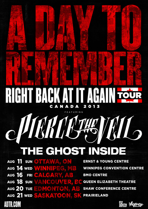 Right Back At It Again 2013 Canada Tour. Photos by Adam Elmakias