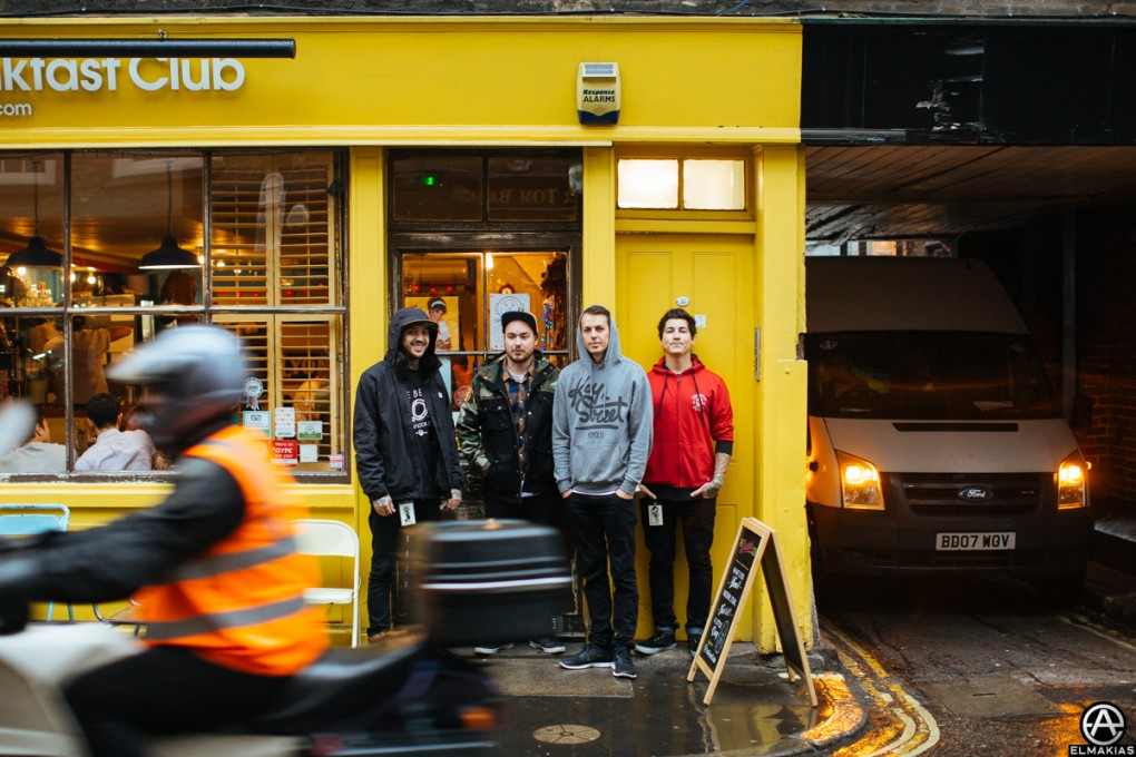 Tony, Matt, Casey and Jaime - Breakfast in London by Adam Elmakias