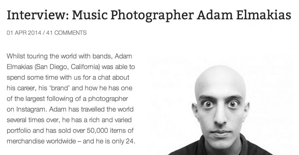 Gig-Photographer Interviews Adam Elmakias