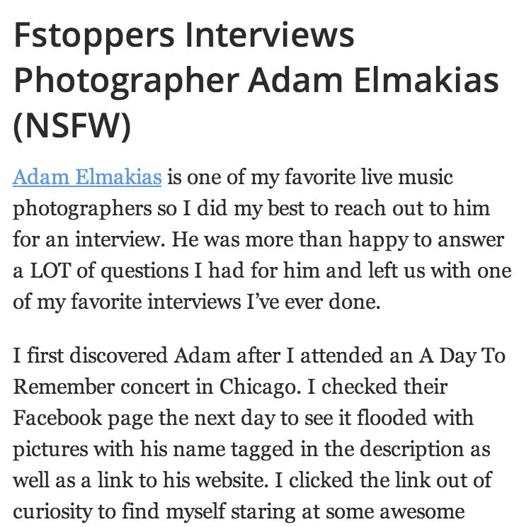 FStoppers Interviews Adam Elmakias