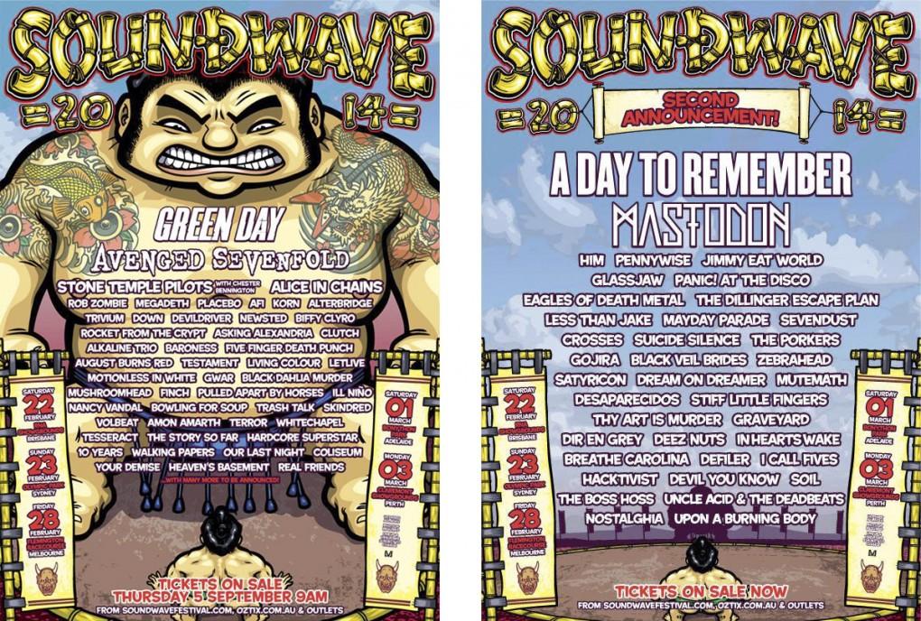 Soundwave Festival 2014 Poster