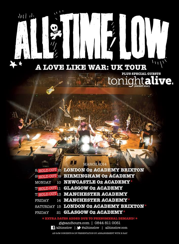 All Time Low, A Love Like War: UK Tour