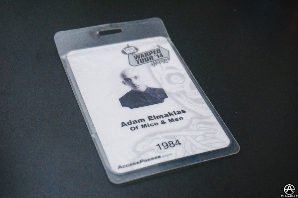 Warped Tour 2014 All Access Pass for Of Mice & Men