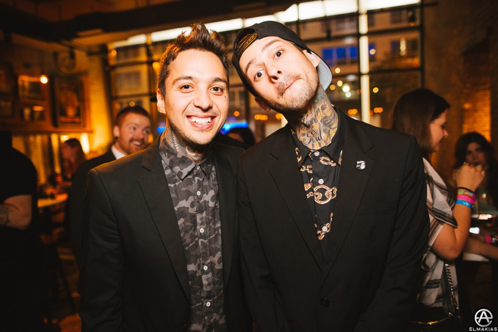 Tony and Mike of Pierce The Veil