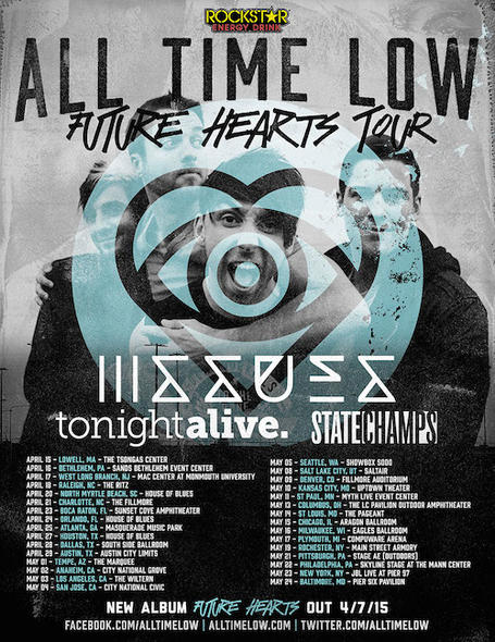 All Time Low Future Hearts Tour Tour Date