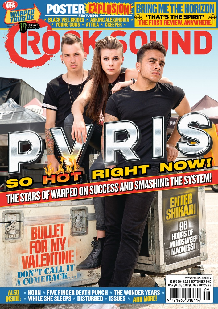 Shot PVRIS for Rocksound Magazine at Vans Warped Tour 2015 by Adam Elmakias